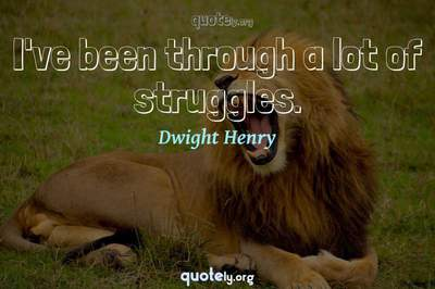 Photo Quote of I've been through a lot of struggles.