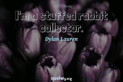 Photo Quote of I'm a stuffed rabbit collector.