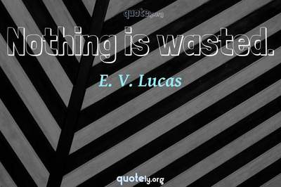 Photo Quote of Nothing is wasted.